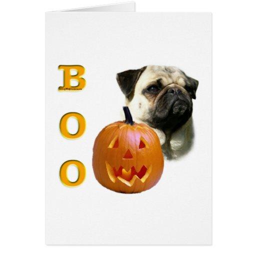 Fawn Coated Pug Boo Cards