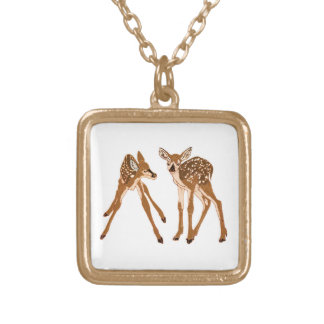 Fawn-d of You Deer Gold Plated Necklace