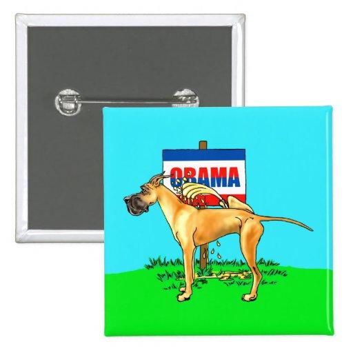 Fawn Dane Pi$$ on Obama Button