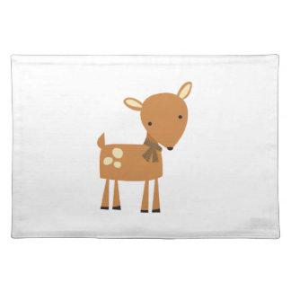 Fawn Deer Cloth Place Mat