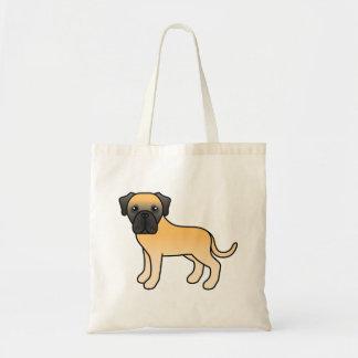 Fawn English Mastiff Cartoon Dog Tote Bag