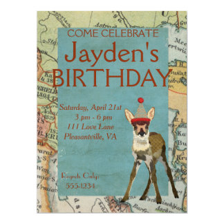 FAWN EXPLORE BIRTHDAY INVITATION