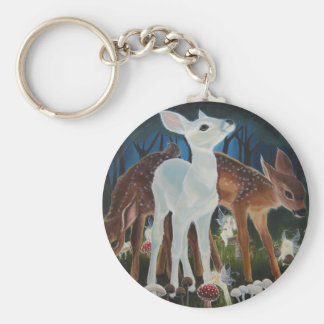 Fawn Faery Ring Keyring Basic Round Button Keychain