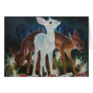 Fawn Faery Ring Note Card