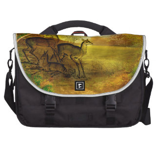 FAWN FAMILY IN FOREST.jpg Computer Bag