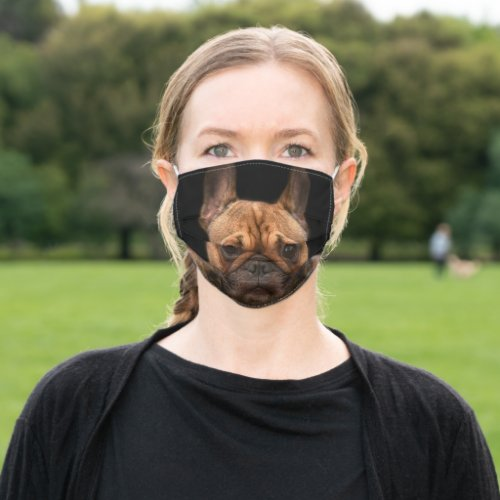 Fawn Frenchie Cloth Face Mask