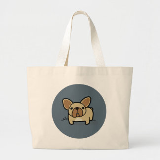 Fawn Frenchie Large Tote Bag