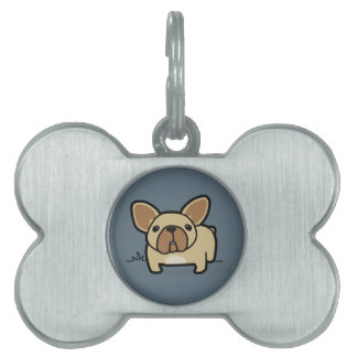 Fawn Frenchie Pet Tag