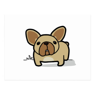 Fawn Frenchie Postcard