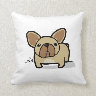 Fawn Frenchie Throw Pillow
