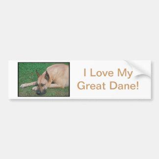 Fawn Great Dane Bumper Sticker