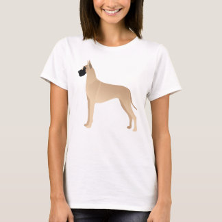Fawn Great Dane Dog Breed Illustration Silhouette T-Shirt
