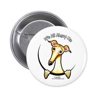 Fawn Greyhound IAAM 2 Inch Round Button