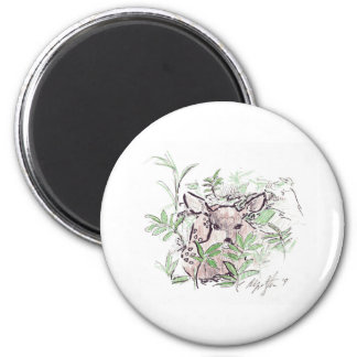 Fawn guest refrigerator magnet