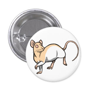 Fawn Hooded Rat badge 1 Inch Round Button