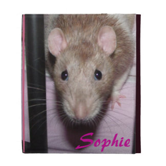 fawn hooded rat 'sophie' Caseable iPad Folio Case