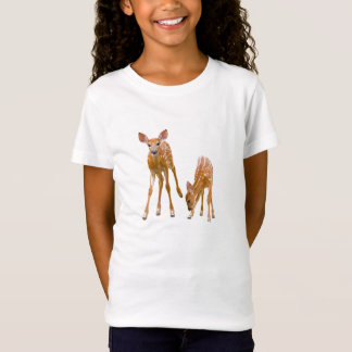 Fawn image for Girls'-Jersey-T-Shirt-White T-Shirt
