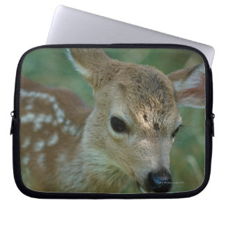 Fawn in Grass Laptop Sleeve