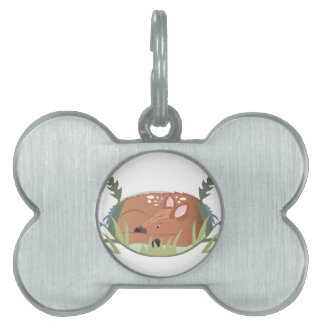 Fawn In Grass Pet Name Tag