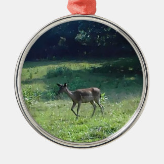 Fawn in the Meadow Metal Ornament