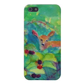 Fawn in the Raspberry Thicket iPhone SE/5/5s Case