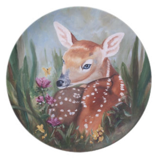 Fawn Innocence Party Plate