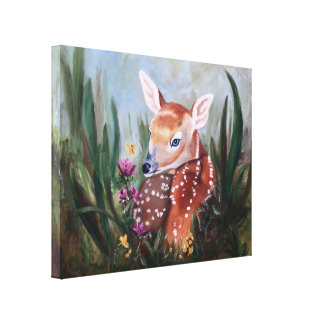 Fawn Innocence Wrapped Canvas Print