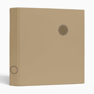 Fawn light brown 3 ring binder