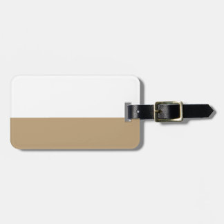 Fawn  light brown luggage tag
