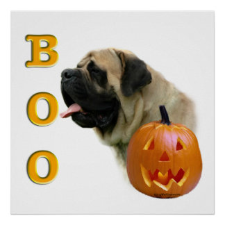 Fawn Mastiff Boo Poster