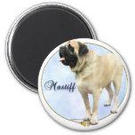 Fawn Mastiff Portrait Fridge Magnets