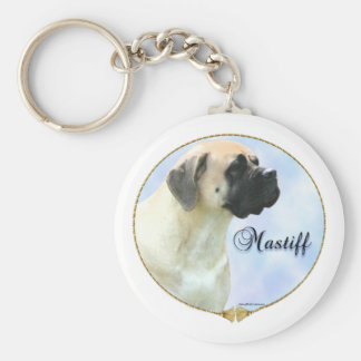 Fawn Mastiff Portrait Keychain