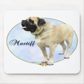 Fawn Mastiff Portrait Mouse Pad