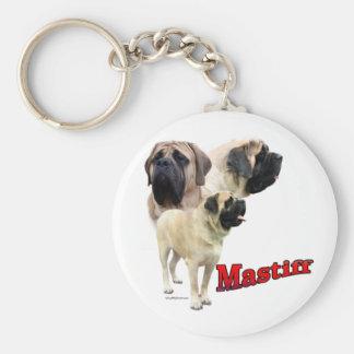 Fawn Mastiff trio Keychain