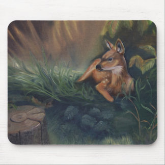 Fawn Oil Painting Mousepad