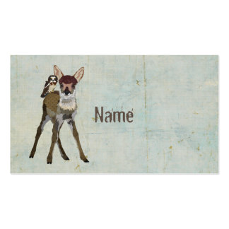Fawn & Owl Grunge Business Card Pack Of Standard Business Cards