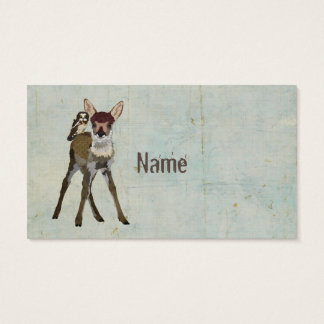 Fawn & Owl Grunge Business Card