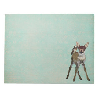 Fawn & Owl Notepad