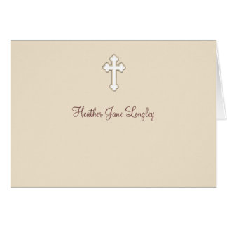 Fawn - Personalized Religious Thank You Notecard Card