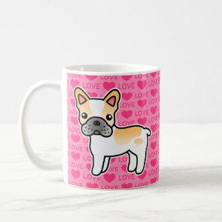 Fawn Piebald Cartoon French Bulldog Love Mugs