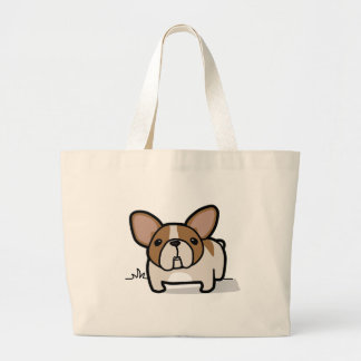 Fawn Pied Frenchie Large Tote Bag
