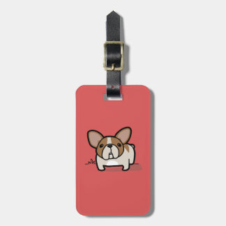 Fawn Pied Frenchie Luggage Tag