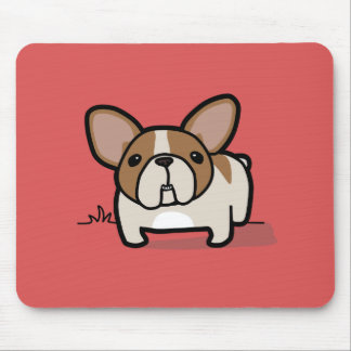 Fawn Pied Frenchie Mouse Pad