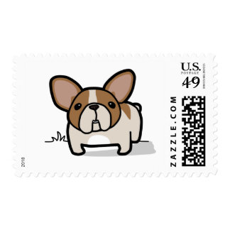 Fawn Pied Frenchie Postage Stamp
