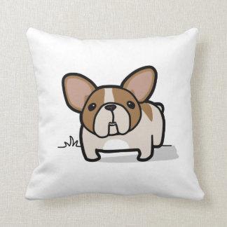 Fawn Pied Frenchie Throw Pillow