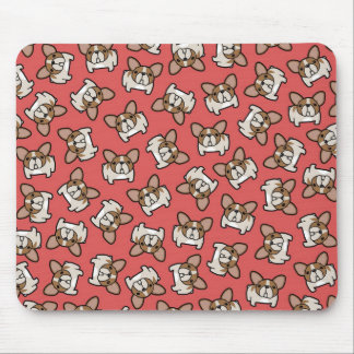Fawn Pied Frenchies Mouse Pads