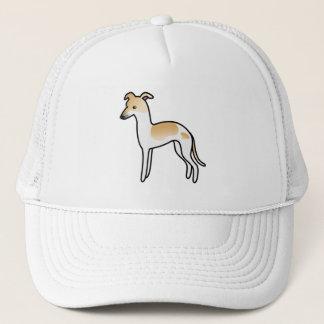 Fawn Pied Italian Greyhound Cartoon Dog Trucker Hat