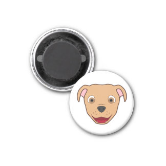 Fawn Pitbull 1 Inch Round Magnet