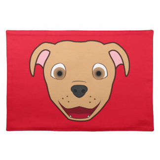 Fawn Pitbull Face Cloth Placemat
