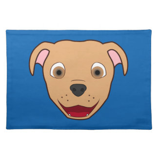Fawn Pitbull Face Placemat